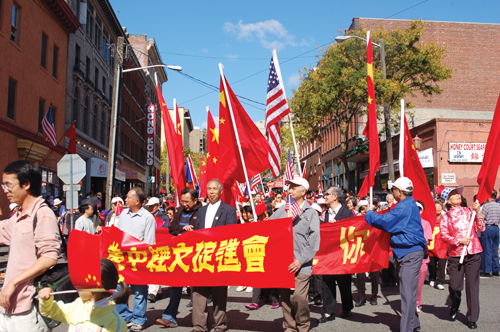A parade celebrating the People's Republic of China's 60th anniversary took place in Sunday, Sept. 20, in Seattle's Chinatown/International District. (Photo by Rebecca Ip/NWAW)