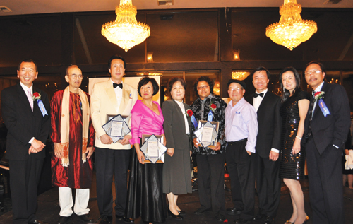 Ten musicians were awarded the distinction of being Northwest Asian Weekly Foundations 2009 Asian American Pioneers in Music. Many of the pioneers came together on Oct. 16 to perform together across ethnic lines. (Photo by George Liu/NWAW)
