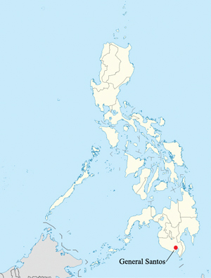 General Santos city is located in the south of the Philippines. The volatile area was where 57 civilians who were killed during a Nov. 23 attack.