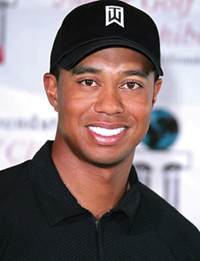 Professional golfer Tiger Woods