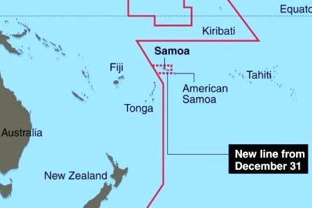 Samoa And Tokelau Jump Ahead A Day On New Years Eve - Tokelau map