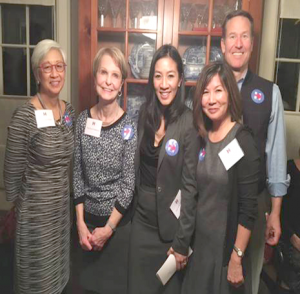 From left: Martha Choe, Virginia Anderson, Michelle Kwan, Mimi Gan, and Everett Billingslea (Photo from Mimi Gan)