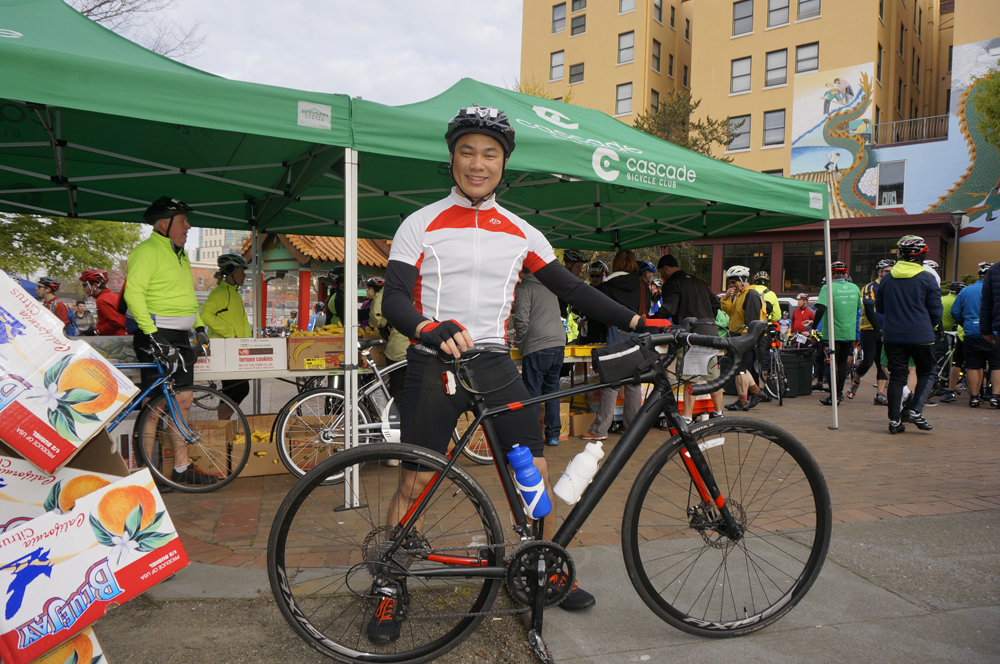 Emerald City Bike Ride participant, Isaac Kuek.