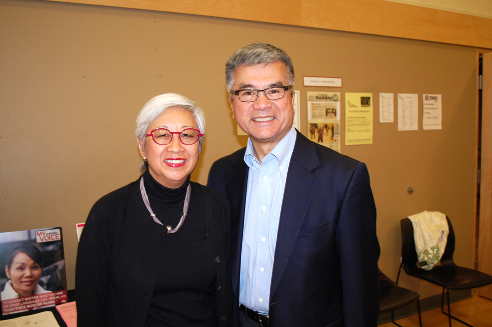 Co-chairs Martha Choe and Gary Locke, AAPI Democracy Initiative. (Photo by John Liu/NWAW)