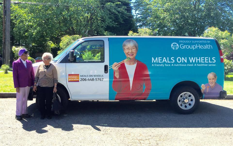 Meals on Wheels van. (Photo provided by Sound Generations)