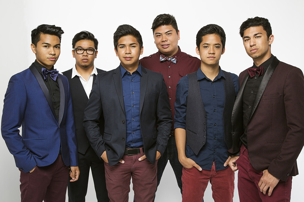 From left: VJ Rosales, Niko Del Rey, Jules Cruz, Joe Caigoy, Trace Gaynor, and Barry Fortgang.