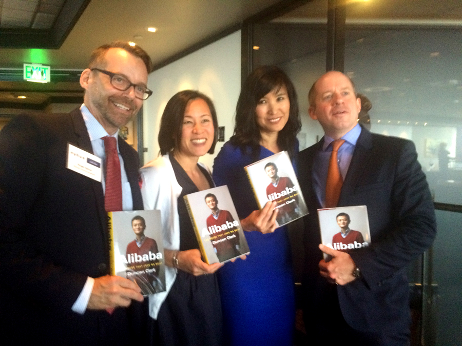 From left: Roger Nyhus, Katherine Cheng, Mona Locke, and Duncan Clark. (Photo by Assunta Ng/NWAW)