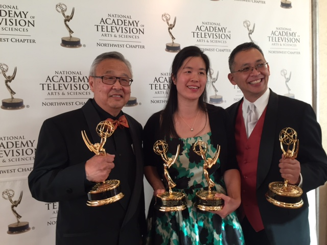 From left: Lawrence Matsuda, Shannon Gee and Randy Eng.