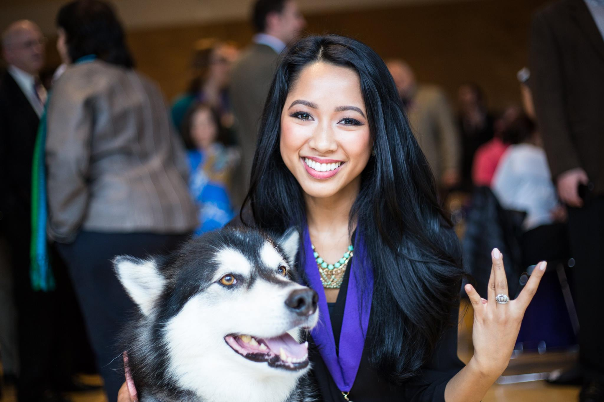 Starla Sampaco at the May 16 UW's Husky 100 recognition ceremony. (Photo by UW Student Life.)
