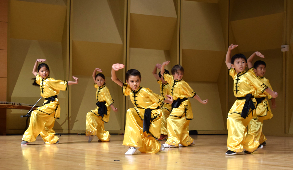 Wushu Long Fist, performed by 8-11 year old students of the Chinese Wushu & Taichi Academy.