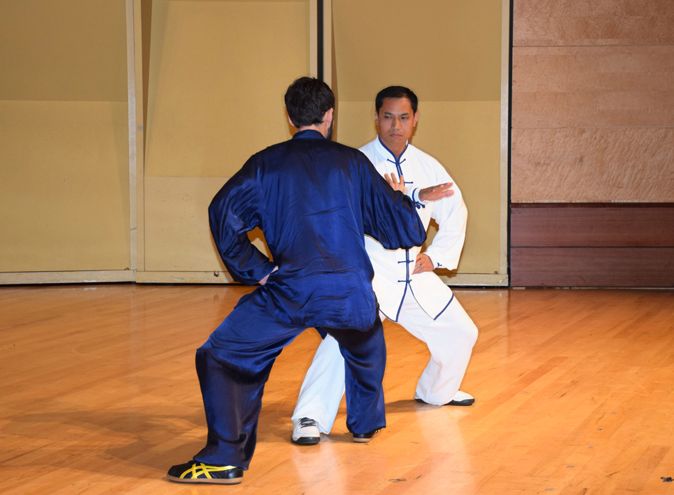 Masters Xiao Ming Xu and Byron Hartman perform Chen Taichi Push Hands.