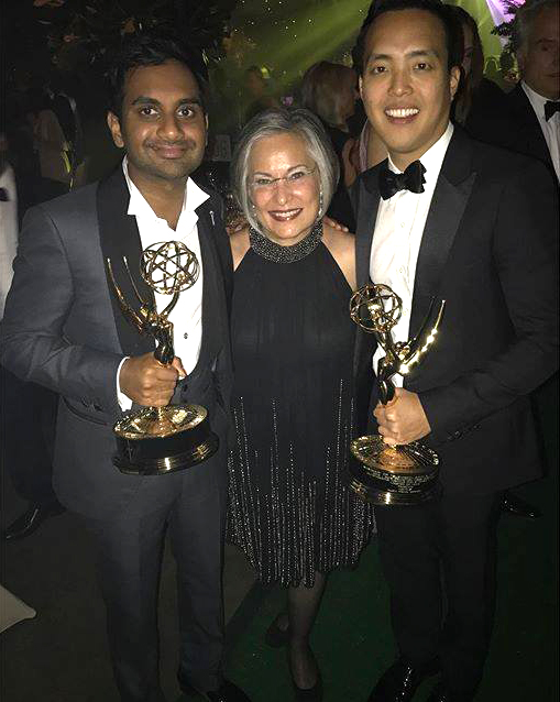 From left: Aziz Ansari, Maureen Wittels, and Alan Yang.