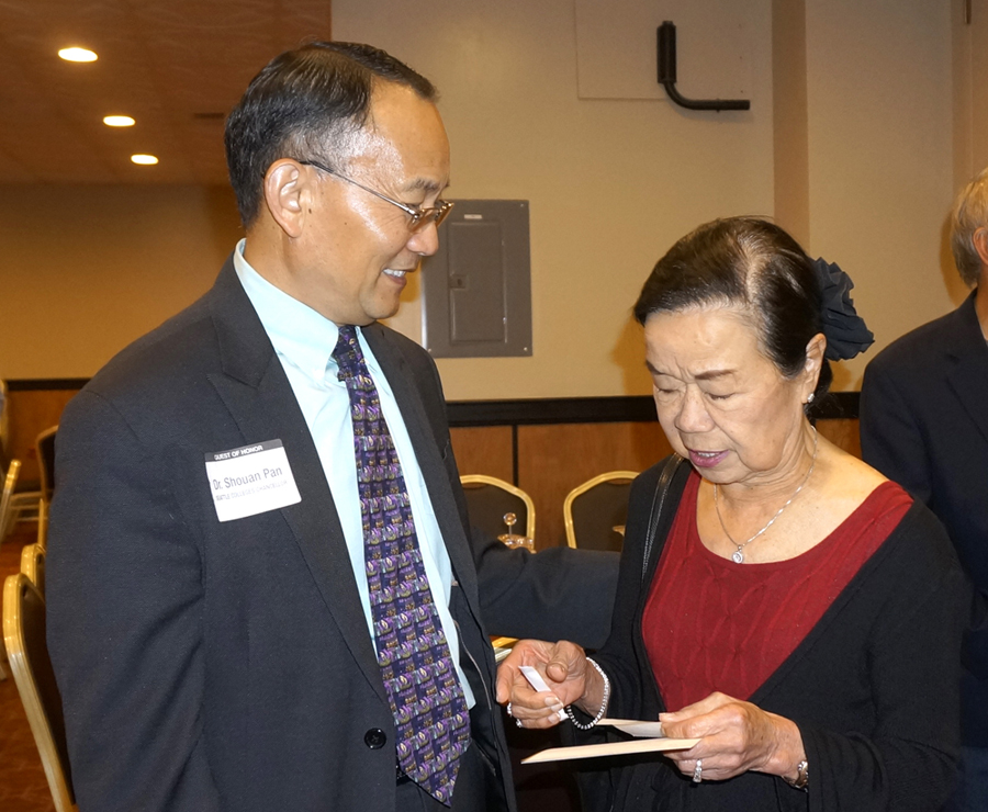 Dr. Shouan Pan and Winnie Lee