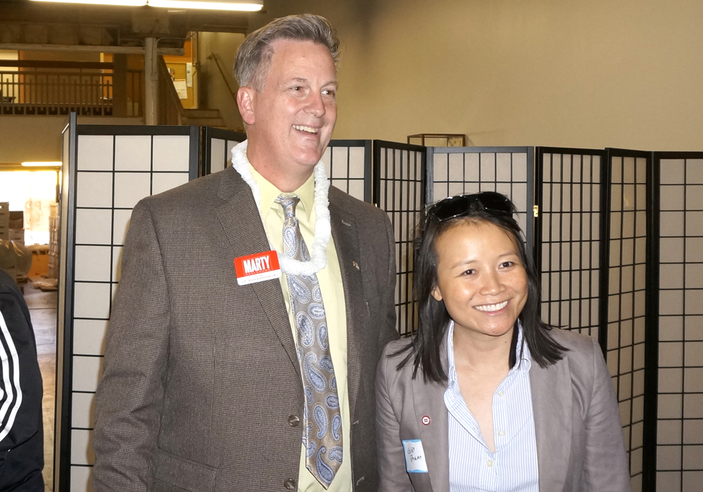 MARTY MCCLENDON, Candidate for Lieutenant Governor and Julie Pham, Event Founder