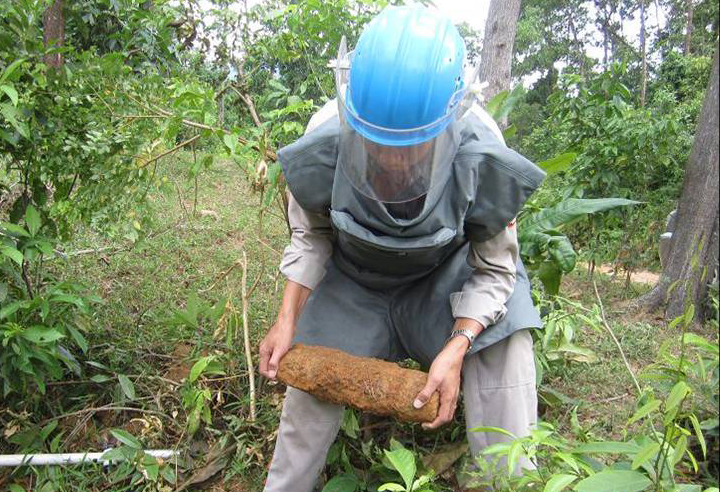 Unexploded ordnance clearance, from August 2012 (Photo from PeaceTrees Vietnam)