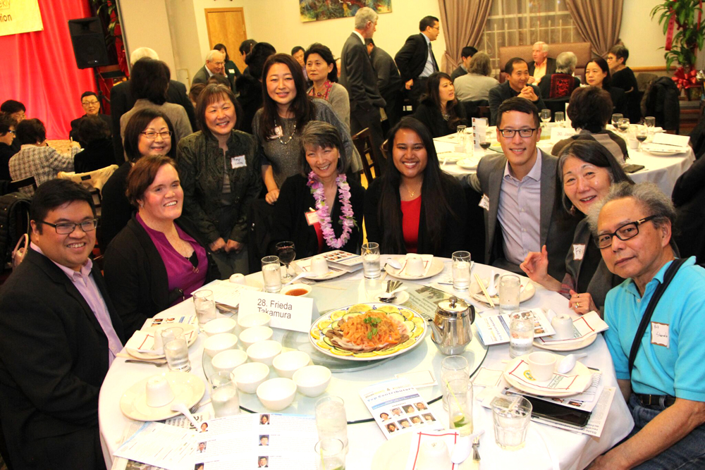 Hon. Sharon Tomiko Santos and friends