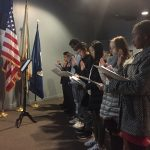 Teens reciting the Oath of Allegiance after receiving Certificates of Citizenship. (Photo provided by the National Park Service.)