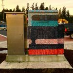 Traffic box in Shoreline artfully decorated.