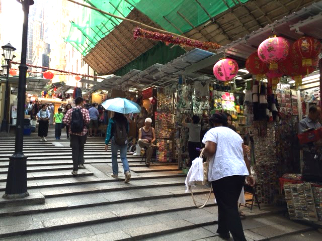 Pottinger Street in Old Hong Kong in the Central District (Photo by Assunta Ng/NWAW)