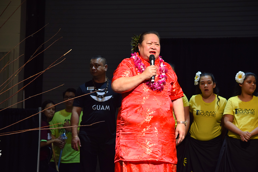 Lua Pritchard, APCC Executive Director, introduced Guma' Imahe.