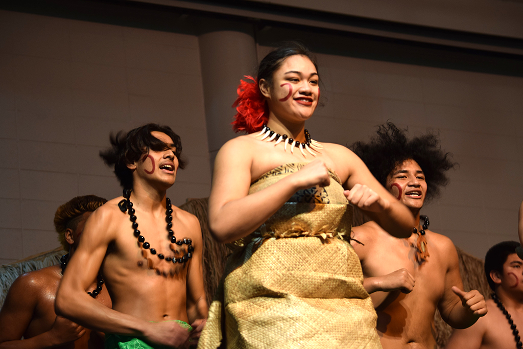 Federal Way High School Pacific Islander Club dancers.