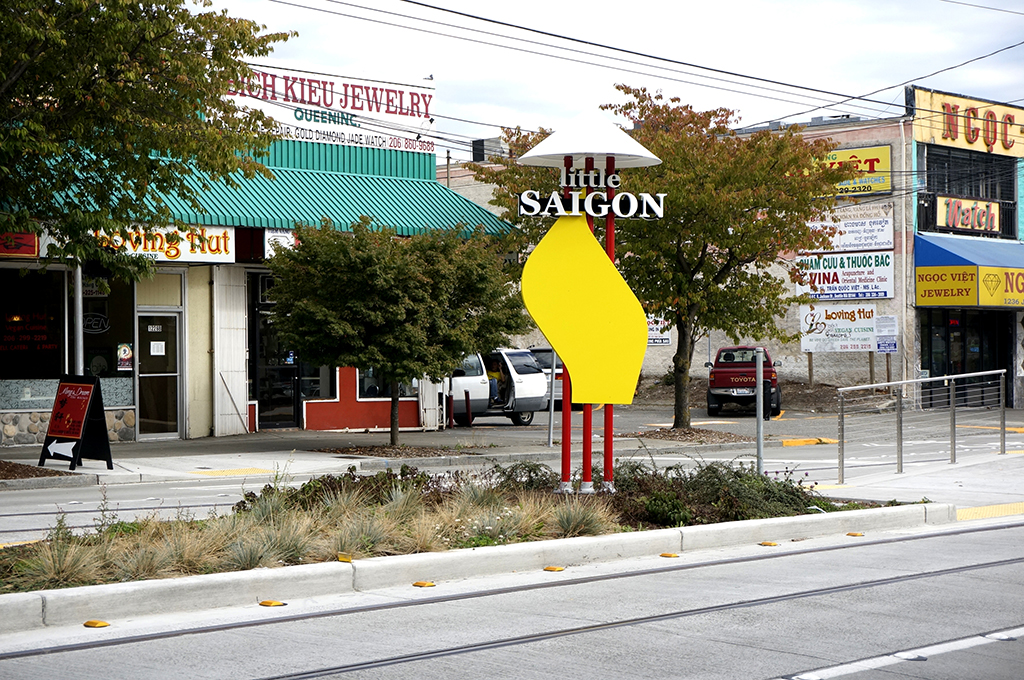A sign on south Jackson Street marks the heart of Little Saigon. (Photo by George Liu/NWAW)
