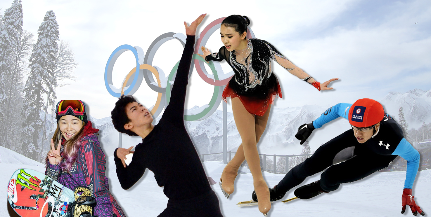 From left: Chloe Kim, Nathan Chen, Karen Chen, and J.R. Celski