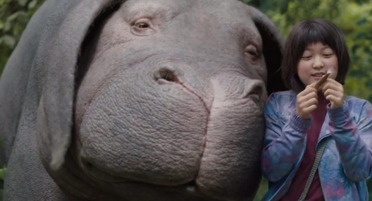 """Okja"" — A quirky, morality tale involving a girl and her super-pig"