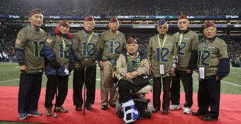 Nisei Veterans honored at Seahawks game