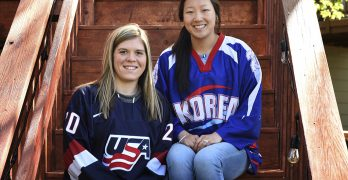 2 Olympic hockey sisters playing for different nations