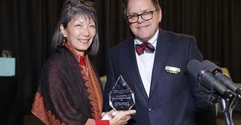 Rep. Santos presented with distinguished alumni award